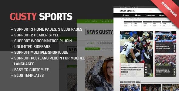 Gusty Magazine WordPress theme - Blog / Magazine WordPress