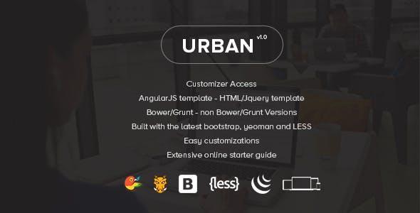 Urban - Responsive Admin Template + Customizer Access