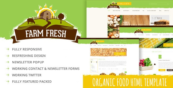 Farm Fresh - Organic Products HTML Template - Food Retail