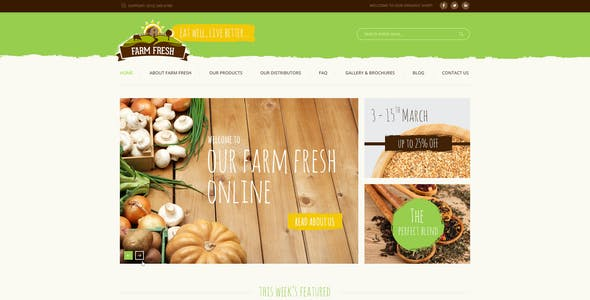 Farm Fresh - Organic Products HTML Template