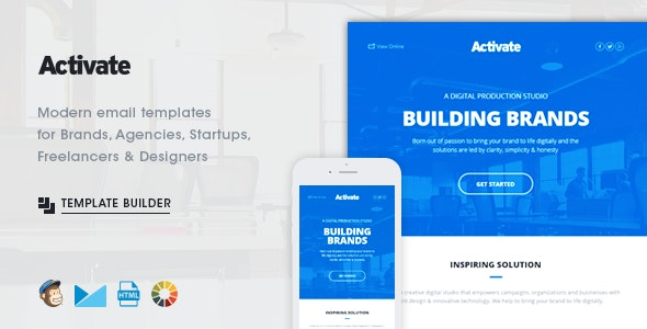 Activate - Modern Emails & Online Template Builder - Newsletters Email Templates