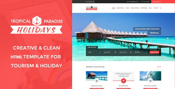 Tropical – Travel, Tour Booking HTML5 Template - Travel Retail