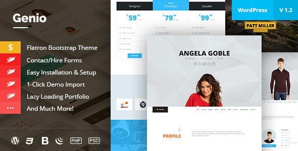 Genio - OnePage Resume, Personal Portfolio Theme - Portfolio Creative