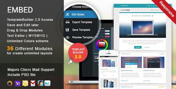 EmbedMail - Responsive E-mail Template