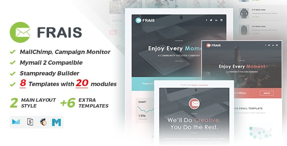 Frais | Responsive Email Set - Email Stationery Email Templates