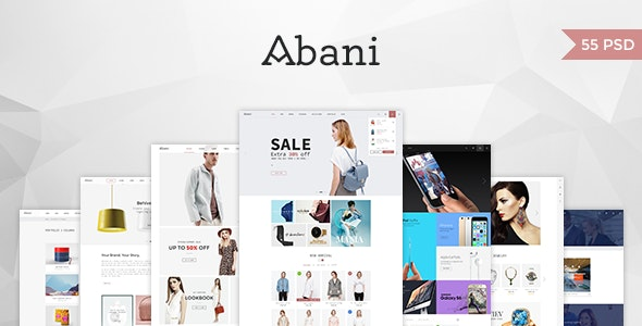 Abani – Multi Purpose eCommerce PSD Template - Retail Photoshop