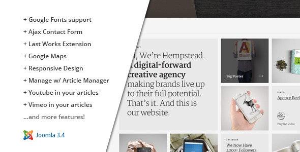 Hempstead :: Responsive Joomla Portfolio Template - Portfolio Creative