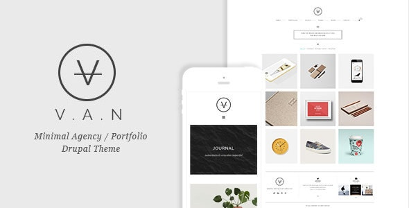 VAN - Minimal Agency / Portfolio Drupal Theme - Creative Drupal
