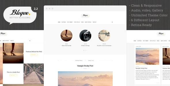 Blogex - Minimal Responsive Wordpress Blog Theme - Personal Blog / Magazine