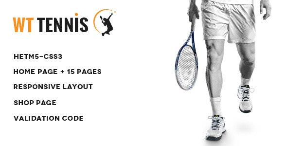 WT Tennis -  HTML Sports Template - Entertainment Site Templates