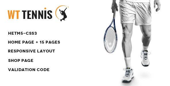 WT Tennis -  HTML Sports Template - Entertainment Site Templates