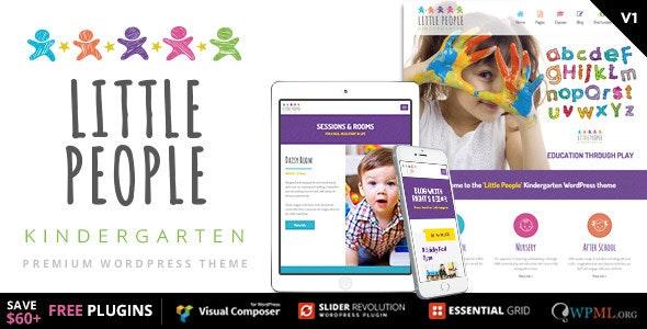 Little People | Kindergarten WordPress Theme for PreScool and infants, nurseries and play school - Education WordPress