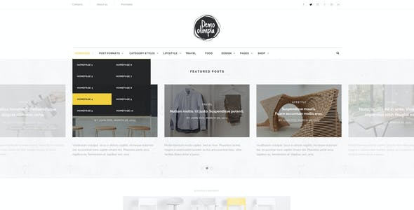 Demo Olimpia | Personal Blog PSD Template