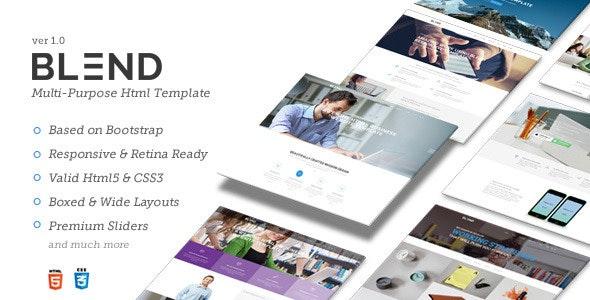 Blend - Multi-Purpose Responsive Website Template - Creative Site Templates
