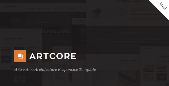 Artcore - A Creative Architecture HTML Template - Business Corporate