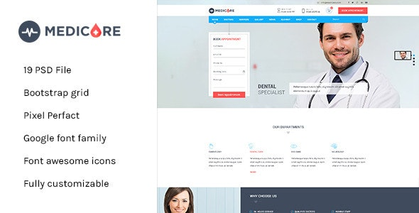 Medicare - Medical & Health PSD Template - Business Corporate