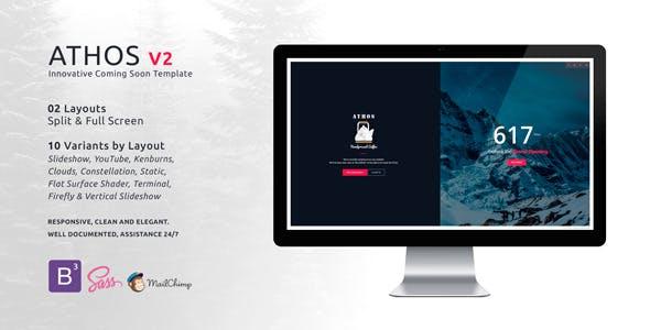 ATHOS V2 - Innovative Coming Soon Template