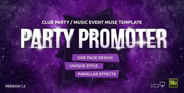 Party Promoter - Club Music Event Muse Template - Miscellaneous Muse Templates