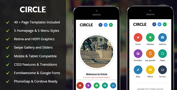 Circle Mobile by Enabled | ThemeForest