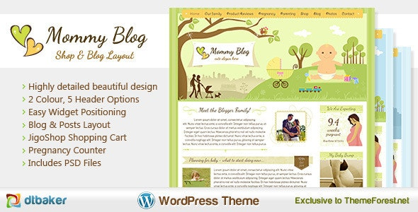 Mommy Blog WordPress - Jigoshop eCommerce