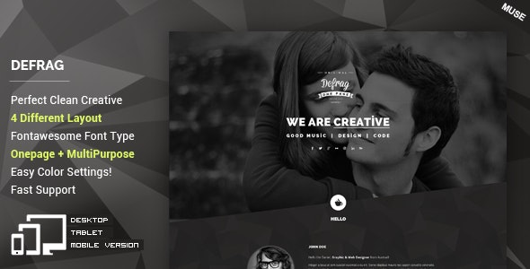 Defrag - Personal & Portfolio Muse Template - Personal Muse Templates