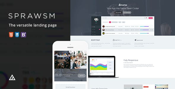 Superawesome Retina Bootstrap 3 Landing Page