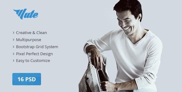 Mute Multipurpose Creative | PSD Template - Business Corporate