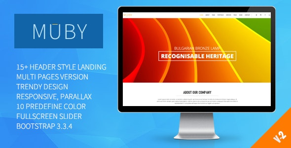 Muby | Multi-Purpose One Page Template - Corporate Site Templates