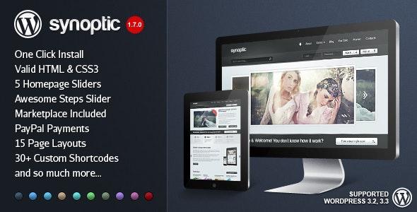 Synoptic Premium WordPress Template - Creative WordPress
