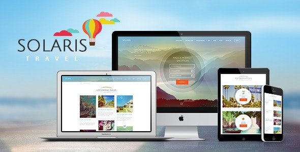 Solaris | Travel Agency and Tour Booking Tourism  WordPress Theme - Travel Retail