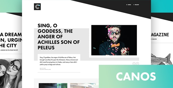 Canos - A Creative WordPress Blog Theme - Blog / Magazine WordPress