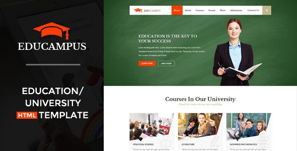 Educampus - Education & University HTML Template - Business Corporate