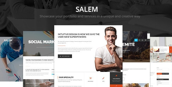Salem - Clean and Bold PSD Template - Corporate Photoshop
