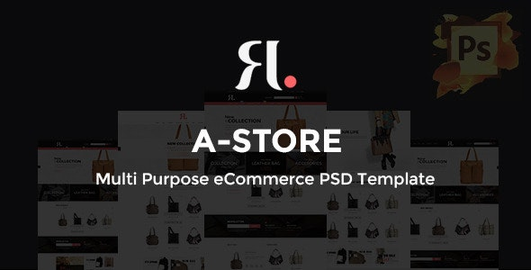 A-Store - Ecommerce PSD Template - Retail Photoshop