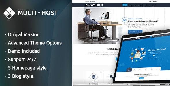 Multi Host - Responsive Server And Vps Drupal 7.6 Theme - Drupal CMS Themes