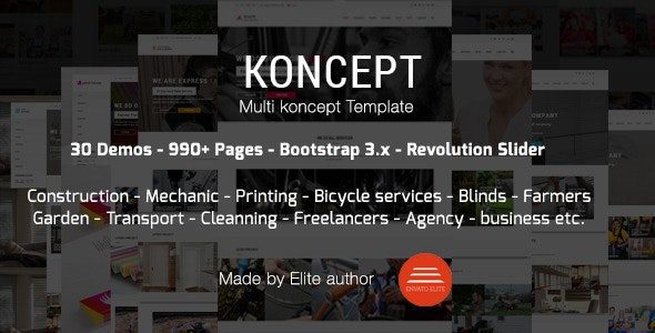 Koncept - HTML5 Multi-Concept Template - Business Corporate
