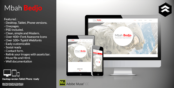 Mbah Bedjo - CV Resume Muse Template - Personal Muse Templates