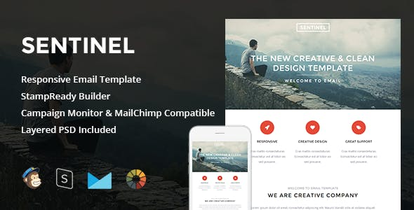 Sentinel - Responsive Email + StampReady Builder