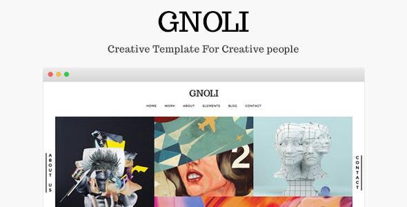 Gnoli - Creative Portfolio Template