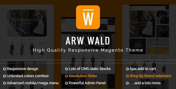 ARW Wald Magento Theme - Fashion Magento
