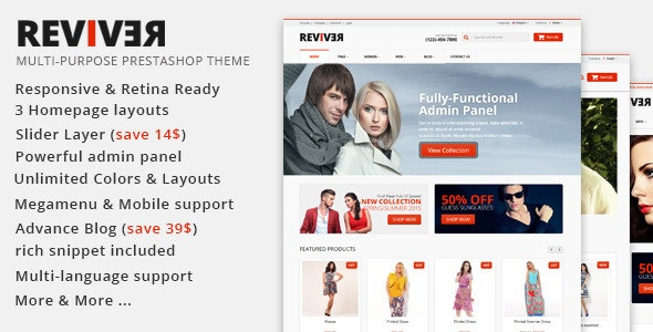 JMS Reviver - Responsive Prestashop Theme - Fashion PrestaShop