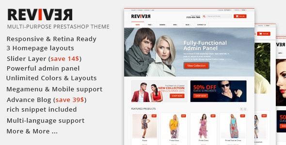 JMS Reviver - Responsive Prestashop Theme - Fashion PrestaShop