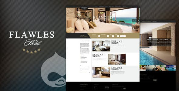 FlawlesHotel - Online Hotel Booking Drupal Theme