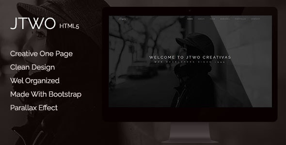 jTwo - One Page Parallax Template - Corporate Site Templates