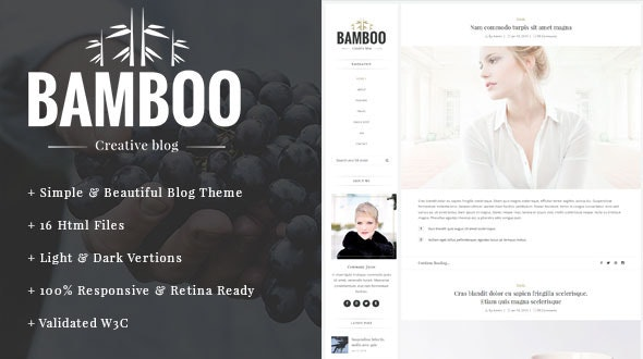 Bamboo - Elegant, Simple HTML5 Blog Template - Site Templates