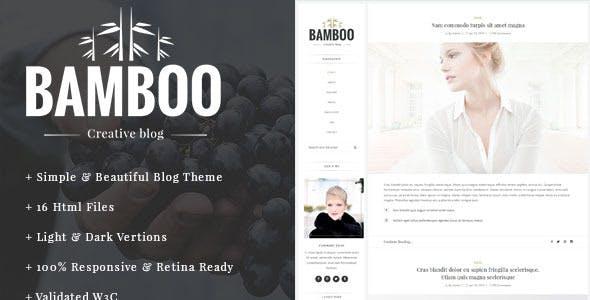 Bamboo - Elegant, Simple HTML5 Blog Template