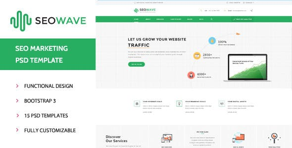 Seo Wave - Marketing PSD Template