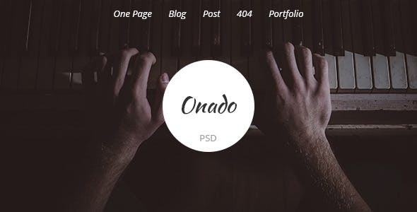 Onado - One Page PSD Template