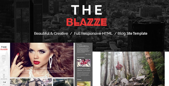 The Blazze - Blog and Magazine HTML Site Template - Fashion Retail