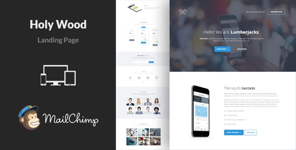 Holy Wood - Multipurpose Landing Page Template - Landing Pages Marketing